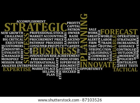 A scramble of business buzz words for background - stock photo