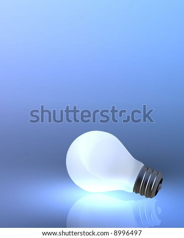 A screw thread light bulb, a metaphor for ideas and thinking.