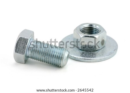 a screw with white background