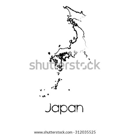 A Scribbled Shape of the Country of Japan