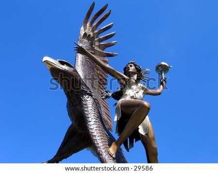 A sculpture in Silicon Valley - stock photo