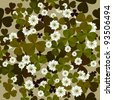 A seamless floral pattern with clovers, background tile for Saint Patrick's Day - stock photo