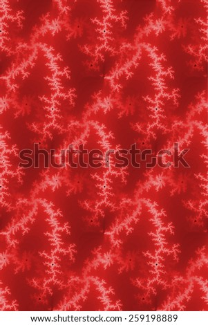 A seamless fractal background in the color of red. - stock photo