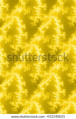 A seamless fractal background in the color of yellow. - stock photo
