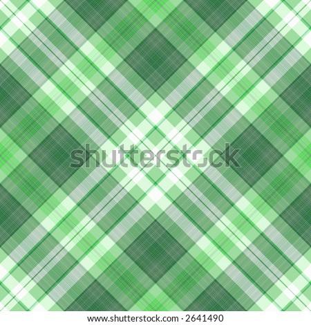 A SEAMLESS green diagonal digital plaid backdrop tile.. - stock photo