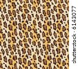 A seamless leopard fur pattern in current fashion colors. Vector format also available. - stock photo