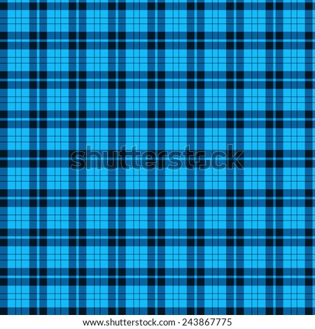 A seamless patterned tile of a blue and black tartan. - stock photo