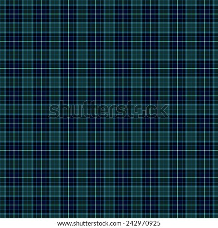 A seamless patterned tile of a blue tartan. - stock photo