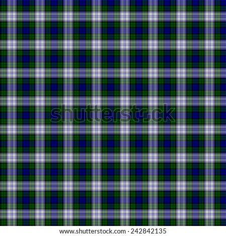 A seamless patterned tile of the Black Watch Dress tartan. - stock photo