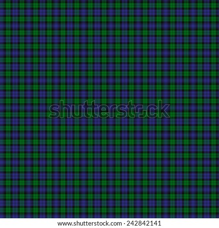A seamless patterned tile of the Black Watch Military tartan. - stock photo