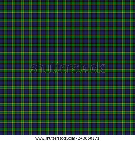 A seamless patterned tile of the Campbell of Breadalbane Military tartan. - stock photo