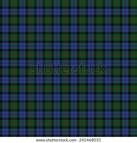 A seamless patterned tile of the clan Baird tartan. - stock photo