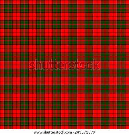 A seamless patterned tile of the clan Cairns tartan. - stock photo