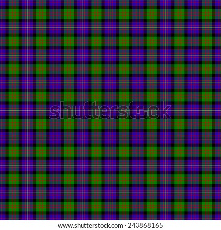 A seamless patterned tile of the clan Cameron of Erracht tartan. - stock photo