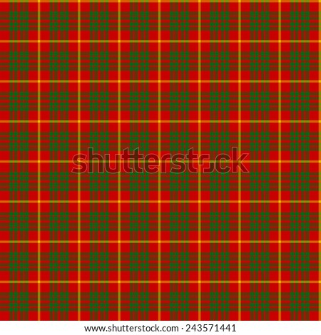 A seamless patterned tile of the clan Cameron tartan. - stock photo