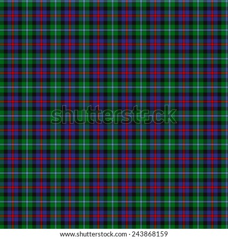 A seamless patterned tile of the clan Campbell of Cawdor tartan. - stock photo