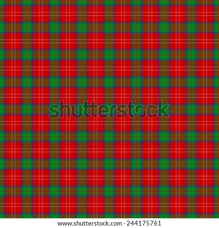 A seamless patterned tile of the clan Chisholm tartan. - stock photo