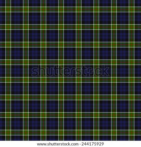 A seamless patterned tile of the clan Colquhoun tartan. - stock photo