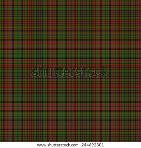 A seamless patterned tile of the clan Cumming Hunting tartan. - stock photo