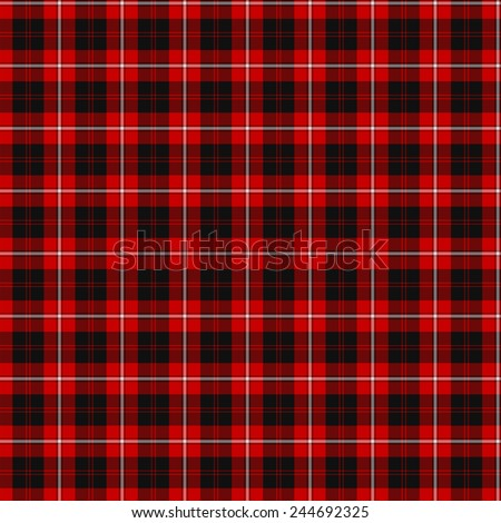 A seamless patterned tile of the clan Cunningham tartan. - stock photo