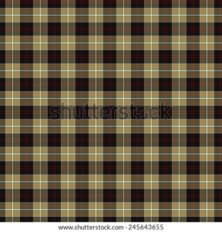 A seamless patterned tile of the clan Dunlop Hunting tartan. - stock photo