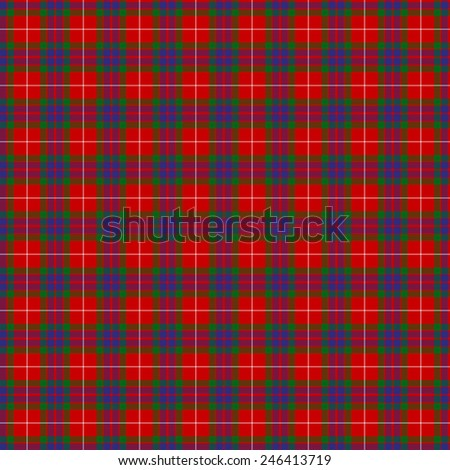 A seamless patterned tile of the clan Fraser tartan. - stock photo