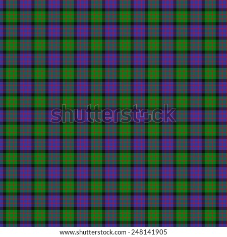 A seamless patterned tile of the clan Gillon tartan. - stock photo