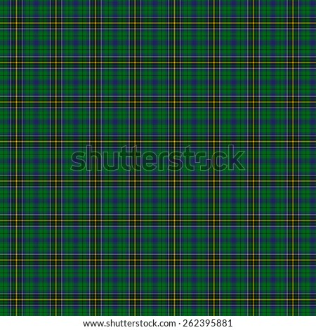 A seamless patterned tile of the clan MacAlpine tartan. - stock photo