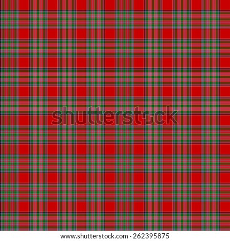 A seamless patterned tile of the clan MacBain tartan. - stock photo