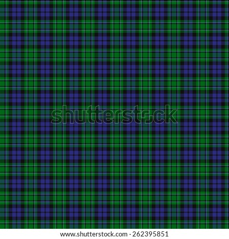 A seamless patterned tile of the clan MacCallum tartan. - stock photo