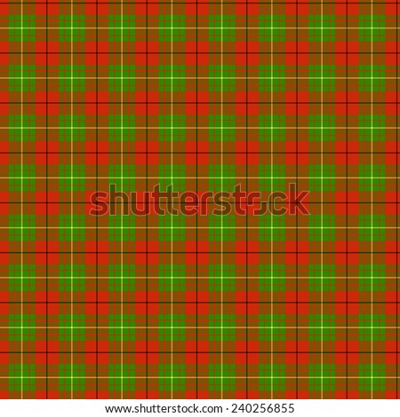 A seamless patterned tile of the clan McAulay tartan. - stock photo