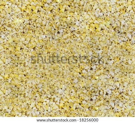 A seamless popped popcorn background - stock photo