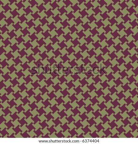 A seamless, repeating houndstooth pattern in burgundy and olive. Vector format also available. - stock photo