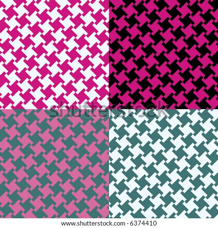 A seamless, repeating houndstooth pattern in the hot colors of the 1980s. Vector format also available. - stock photo