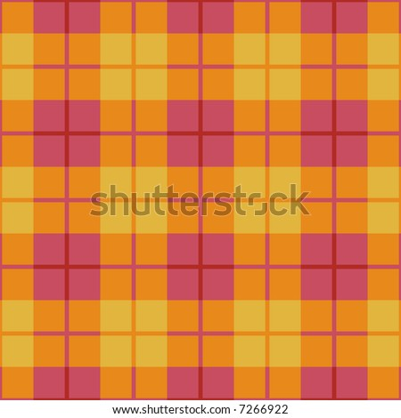 """A seamless 12"""" square plaid pattern in pink, orange and yellow. - stock photo"""