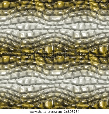A seamless tiling illustration of alligator skin - stock photo