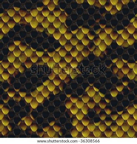 A seamless tiling texture. Illustration of a snakeskin with scales - stock photo