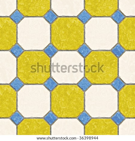 A seamless tiling texture. Illustration of an area of floor tiles - stock photo