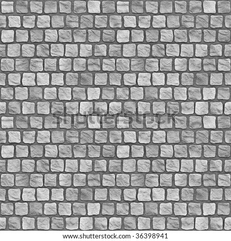 A seamless tiling texture. Illustration of cobblestones - stock photo
