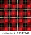 A seamlessly repeatable red plaid pattern. - stock photo