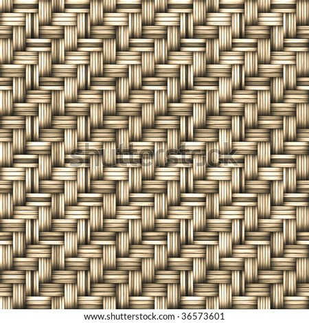 A seamlessly tiling texture. Illustration of woven basketwork - stock photo