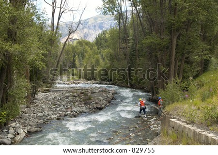 A search and rescue vehicle on duty in the Rocky Mountains - stock photo