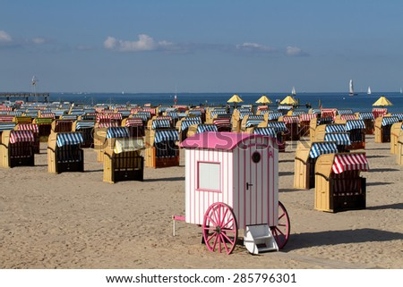 A seaside resort. Germany - stock photo