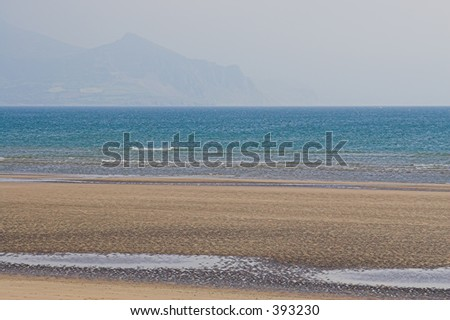 A secluded beach in Wales, Britain - stock photo