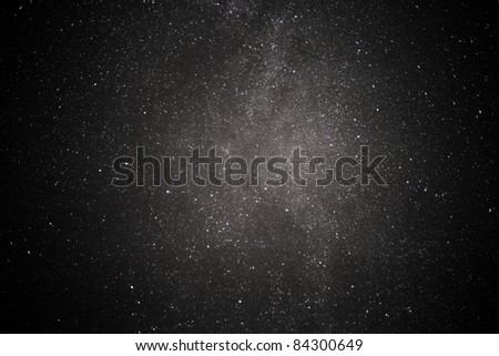 A 5 second peek at the centre of our galaxy shows a multitude of stars. - stock photo