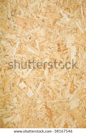 A section of plywood wall in a remodel project. - stock photo