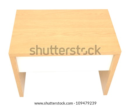 A security desk isolated white