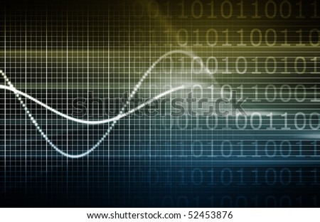 A Security Network Data Monitor as Abstract - stock photo