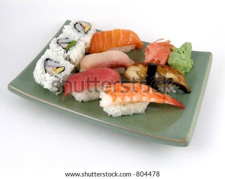 A selection of nigiri sushi - stock photo