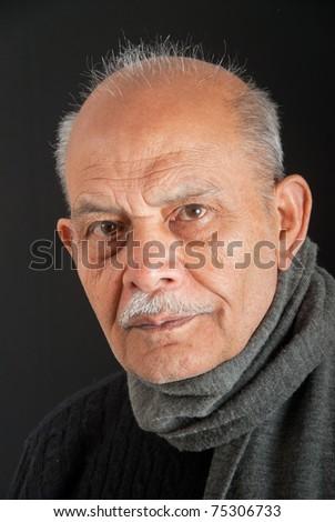 A senior Indian / Asian man - stock photo